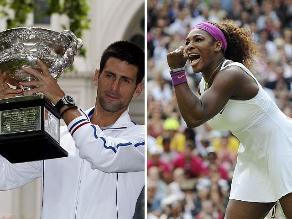 Novak Djokovic y Serena Williams son los mejores tenistas del 2013