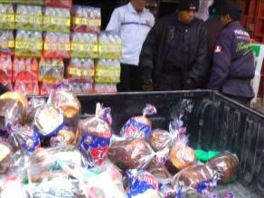 Huancayo: Decomisan más de 150 panetones sin registro sanitario