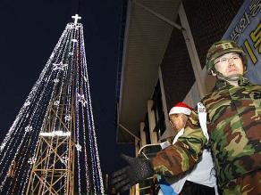 Árbol de Navidad en frontera intercoreana tampoco se iluminará este año