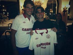 Rafael Nadal y David Ferrer se unen a los festejos de Universitario