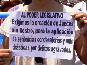 Trujillo: Piden crear salas con jueces sin rostro contra el crimen