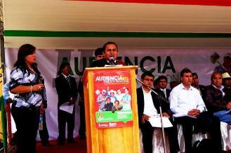 Cajamarca: Santos realiza audiencia regional con escaso público