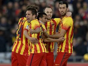 Barcelona goleó 5-2 al Getafe en Madrid y cerró el 2013 como líder