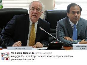 García Belaunde renunciará a comisión sobre Óscar López Meneses