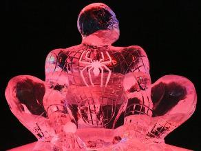 Festival de esculturas de hielo basadas en cómics en Bélgica