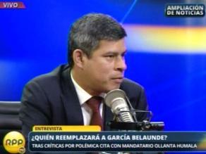 Galarreta: No me corro al encargo de presidir comisión López Meneses