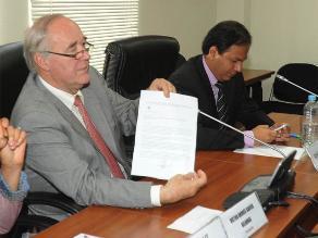 García Belaunde agradece apoyo de colegas: ´Respaldan a mi honorabilidad´