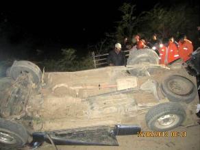 Huancavelica: un muerto deja vuelco de auto en Carretera Central