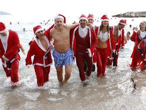Por Navidad: chapuzón helado y benéfico en las playas de Mónaco