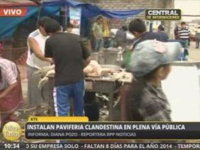 Paviferias informales funcionan en plena vía pública en Ate