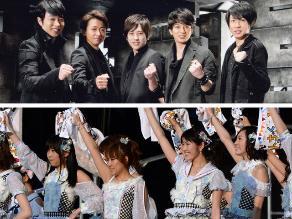 Arashi y AKB48, los reyes en álbumes, singles y DVD en Japón en 2013