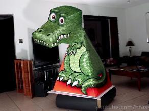 Sorprende ilusión óptica de T-Rex no deja de seguir con la mirada