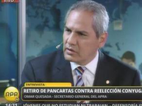 Omar Quesada: Apra acudirá a Corte IDH si Alan García es inhabilitado