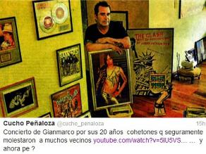 Rockero recordó a Gian Marco pirotécnicos que usó en concierto