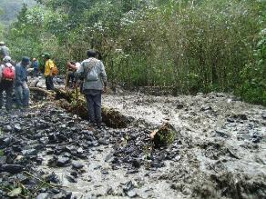 Ayacucho: lluvias bloquean carretera que conduce al Vraem