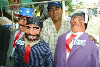 San Paulinos, una tradición para quemar en Año Nuevo en Piura