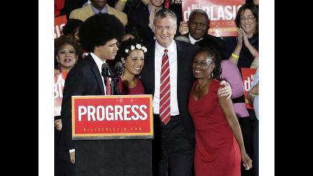 EEUU: De Blasio jura su cargo como nuevo alcalde de Nueva York