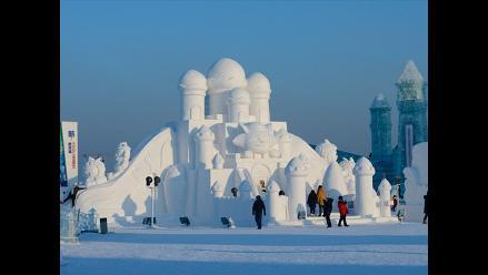 Espectaculares esculturas en un ´Mundo de hielo y nieve´ en China