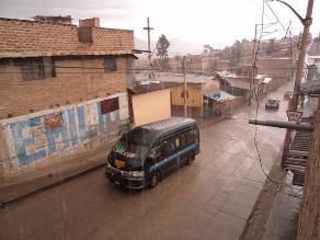 Cajamarca soportó más de siete horas de lluvia continua