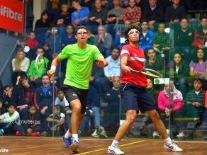 Diego Elías ganó el segundo lugar del British Junior de squash