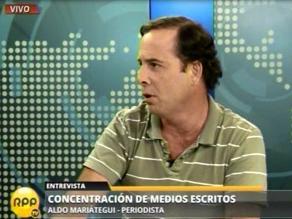 Mariátegui afirma que Humala ejerce presión en controversia de medios