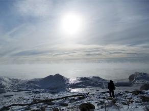 Frente ártico congela el lago Michigan en Estados Unidos