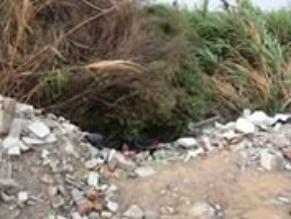 Trujillo: hallan restos de hombre decapitado en ribera de río Moche