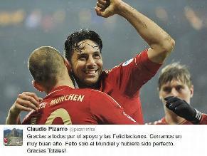 Claudio Pizarro anota en victoria de Bayern Munich en amistoso