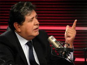 Alan García le dice no a la politiquería y el abuso
