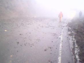 La Libertad: neblina afecta vía de acceso a zona andina de Otuzco