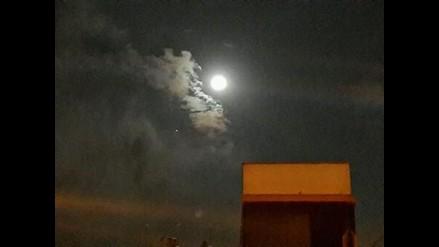 Fotos de Júpiter junto a la Luna compartidas desde redes sociales