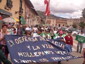 Instan a manifestantes de Conga respetar propiedad privada