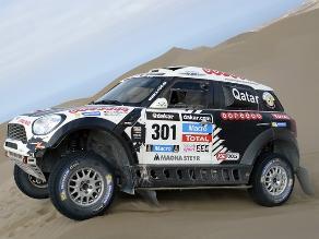 Dakar 2014: Nasser Al Attiyah se llevó la décima etapa del rally en autos