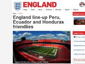 Inglaterra confirma partido con Perú en el Wembley previo a Brasil 2014