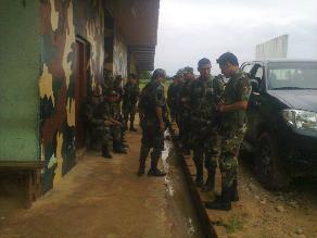 Dirandro y presuntos narcotraficantes se enfrentan en Alto Amazonas