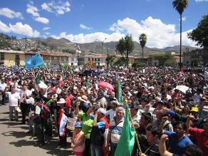 Más de 30 comunidades de Cajamarca rechazan paro contra Conga