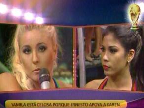 Combate: Yamila Piñero celosa de Karen Dejo