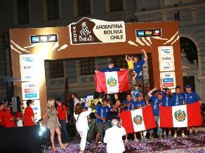 Dakar 2014: El festejo de Luis Felipe Pinillos y Fernando Ferrand Malatesta