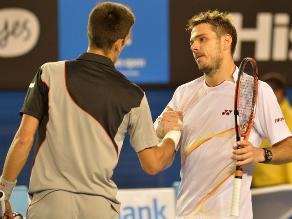 Wawrinka da la sorpresa en el Abierto de Australia al vencer a Djokovic