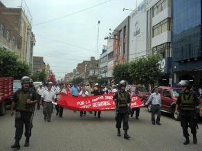 Cajamarca: trabajadores del Ministerio Público acataron paro de 48 horas