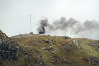 Cajamarca: ronderos investigarán caída de antena rumbo a Conga