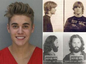 FOTOS: Justin Bieber y otros famosos que pasaron por el ´mugshot´