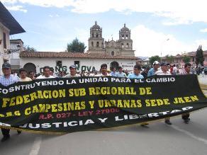 Cajamarca: delegaciones de ronderos se movilizaron en rechazo a Conga