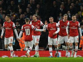 Arsenal goleó 4-0 al Coventry City y avanza a octavos de la Copa FA