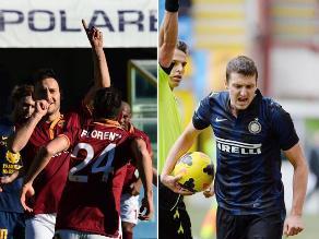 Serie A: Inter de Milán empató con Catania y Roma supera al Verona