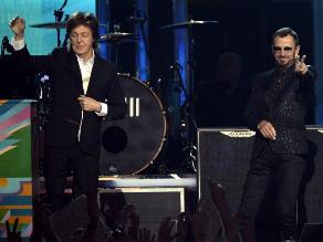 Grammy 2014: Paul McCartney y Ringo Starr nuevamente juntos