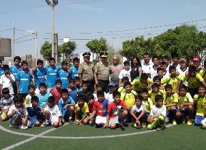 Chiclayo: policía fomenta el deporte en zona de incidencia delictiva
