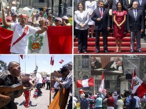 Cientos de peruanos siguieron el fallo de La Haya en la Plaza de Armas