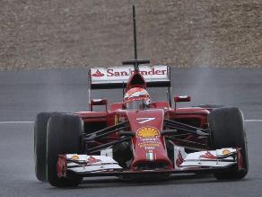 Kimi Raikkonen logró el segundo mejor tiempo en las prácticas de Jerez