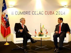 Presidentes Humala y Piñera se reúnen en La Habana